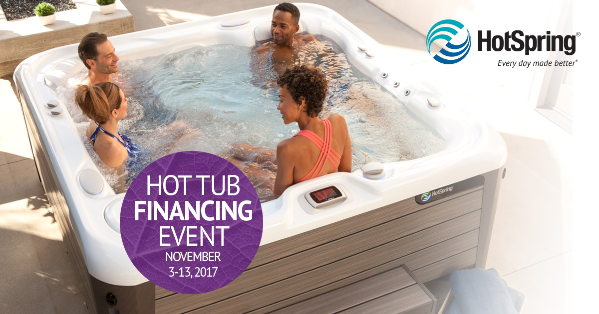 Zero interest financing for 60 months on all new hot tubs for Furniture 0 interest financing