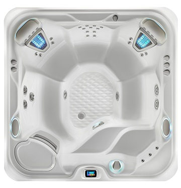 an overhead view of the empty Highlife Vanguard Hot Tub Model