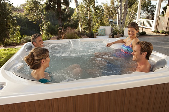 four-friends-relax-in-a-limelight-flair-hot-tub-2
