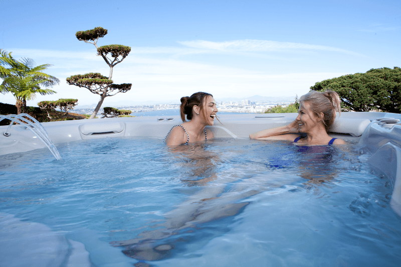 Hot tub filters silently clean your spa water while you relax.