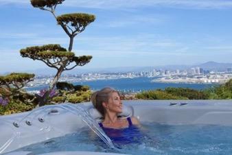 Woman in Hot springs spa