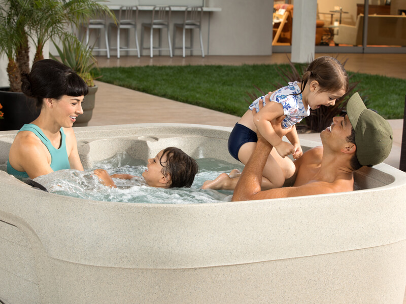Family playing in a Fantasy Spa