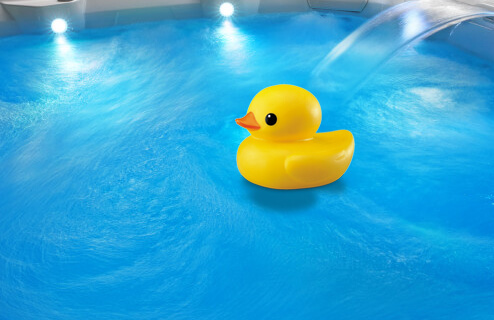 Rubber Duck in best selling hot tub
